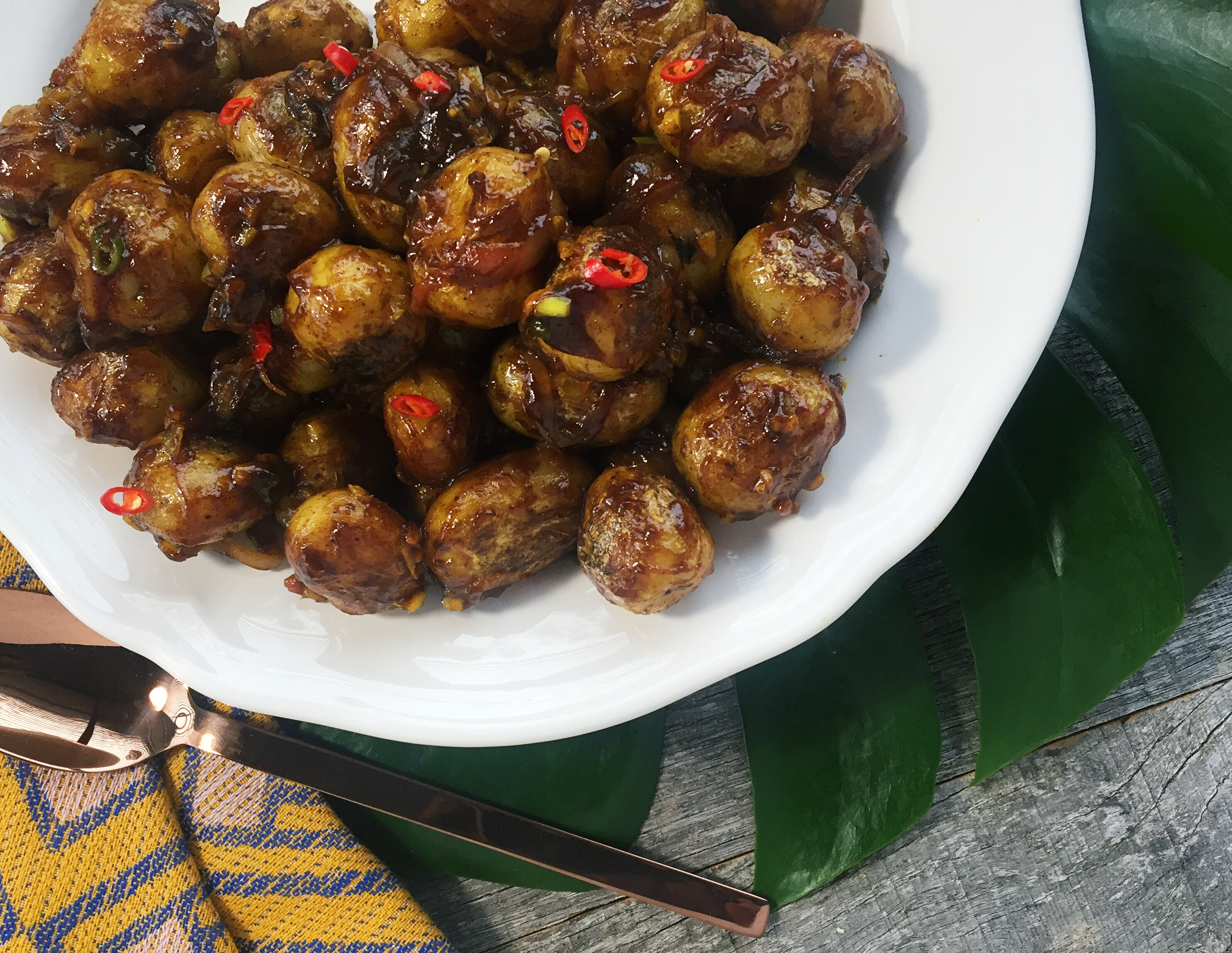 SPICED TAMARIND POTATOES